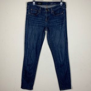 J Crew- Toothpick Ankle St Leg Jeans size 27